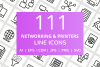 111 Networking & Printers Line Icons example image 1