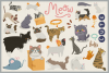 80 Cute Cat Vector Clipart & Seamless Patterns example image 2
