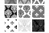 Black and White Damask Patterns - Seamless Digital Papers example image 3