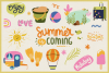 Summer Holiday Vector Clipart & Seamless Patterns example image 4