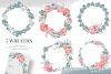 5 Wreaths, Floral boxes watercolor col. example image 2