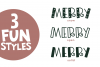 Merry Merry - A Fun Handwritten Font in Three Styles! example image 6