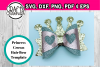 Hair bow - Princess crown hair bow svg file - diy hair bows example image 1
