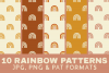 Rainbow Digital Paper Boho - Seamless Pattern Burnt Orange example image 1
