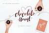 Chocolate Heart Script Font example image 1