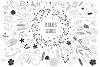 450 handsketched elements. Nature mega pack example image 19