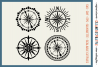 Set of 4 RETRO COMPASSES|SVG DXF EPS PNG files for crafters example image 1