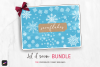 100 Procreate Snowflake Brush BUNDLE Stamp Brushes Patterns example image 1