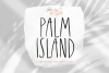 Palm Island - Handwritten Font with Extras example image 1
