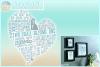 Subway Art Wedding Anniversary Heart SVG example image 1