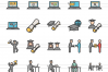 150 Academics Filled Line Icons example image 4