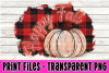 Happy Fall - Red & Black Buffalo Plaid- Pumpkin - Print File example image 1