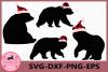 Bear Svg, Christmas Svg, Bear Buffalo Plaid Svg, Bear example image 1