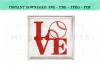 Love With Baseball SVG example image 2