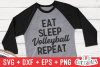 Eat Sleep Volleyball Repeat | Volleyball svg Cut File example image 1