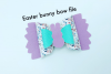 Easter Bunny hair bow file example image 2