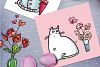 Saint Valentine's Cats - patterns, frames example image 8