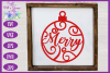 Christmas Word Ornaments SVG | Laser Cut Baubles SVG example image 8