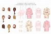 Bride And Maids Wedding Pink Gold Clip Art example image 4