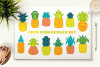 Cute Hand Drawn Pineapples Set example image 3