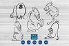 Rabbits svg files, bunny svg, hare, cruelty free symbol example image 1