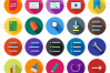 50 Interface Flat Long Shadow Icons example image 2
