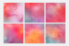 Cotton Candy Watercolor Textures | 6 Pack example image 2