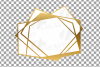 Chaotic geometric golden frames, lineal frames clip art example image 10