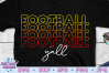 Football SVG | Football Y'all SVG | Cricut | Stacked example image 1