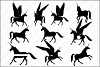 Unicorns SVG cutting files for Silhouette and Cricut. example image 1