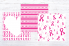 Pink Breast Cancer Awareness Digital Paper example image 3
