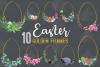 Easter golden watercolor floral frames, floral frames example image 1