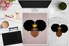 BUNDLE Afro Girl, Afro Girl Face, BAE, BHM SVG Cut File example image 14