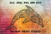 Dolphin SVG, Zentangle SVG, Sea animal SVG, Mandala svg example image 1