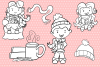 Winter Hot Cocoa Time Digital Stamps example image 3