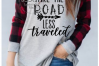 Take the road less traveled//SVG/EPS/DXF example image 2