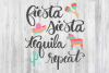 FIesta Siesta Tequila Repeat SVG PNG DXF Cinco De Mayo File example image 2