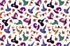 Cute Witches Hats - vector set example image 2