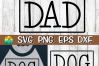Dog Dad- SVG - DXF - EPS - PNG example image 2