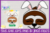 Easter | Sloth Face SVG Cut File example image 1
