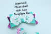 Hair bow template bundle #2 - hairbow svg files - diy bows example image 6