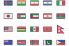60 Flags Linear Multicolor Icons example image 2