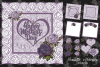 Mothers Day Lavender roses &lace card digital cutting file example image 1