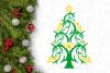 Unicorn Christmas Tree Svg Design example image 2
