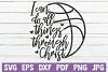 I Can Do All Things Through Christ | Basketball example image 1