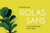 Rolas Sans - Display Font example image 1