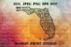 Florida Map SVG, Zentangle SVG, Travel svg, Mandala svg example image 1