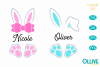 Easter Bunny Ears SVG example image 1