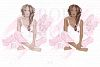Holiday Weekend Fashion Girl Pijamas Clip Art example image 2