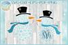 Snowflakes Snowman Monogram Svg Dxf Eps Png Pdf example image 1